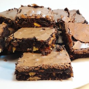 Brownie choclate com nozes - Individual