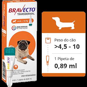 BRAVECTO CÃO - 4,5 a 10Kg