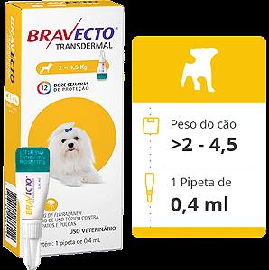 BRAVECTO CÃO - 2 a 4,5Kg