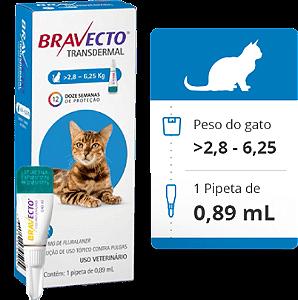 BRAVECTO GATO TRANSDERMAL - 2,8Kg a 6,25Kg
