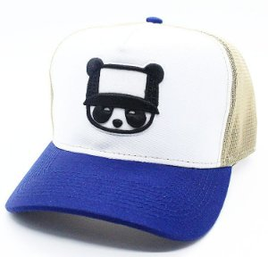 Boné Abaz Trucker - Panda - Blue and Gold