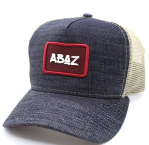 Boné Trucker - Logo Abaz - Jeans