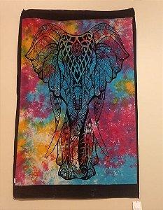 painel de tecido indiano com estampa de elefante