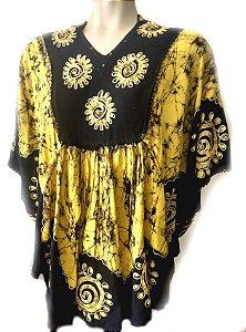 bata manga morcego batik amarela