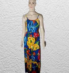 vestido longo florido de alça