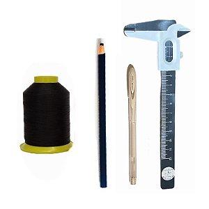 Kit design Sobrancelhas  - Linha, paquímetro, caneta e lápis