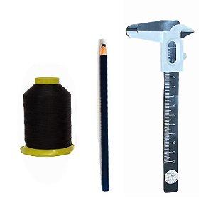 Kit design Sobrancelhas - Linha, paquímetro, lápis preto