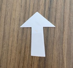 Molde para depilação dos pelos - 10 und (Seta)