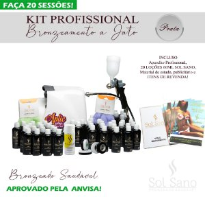 Kit Profissional de Bronzeamento a Jato  (PRATA)