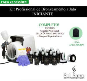 Kit Profissional de Bronzeamento a Jato  (INICIANTE)