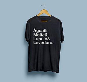 Camiseta - Água, malte, lúpulo & levedura