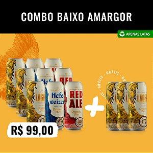 Ofertas Secretas: Combo Baixo Amargor Latas - 12 cervejas: 3x (Pilsen, Red, Hefeweizen) + 3x (Lager) Grátis