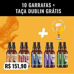 Caixa 10 garrafas (500ml) + Taça Dublin 400ml (Grátis!)