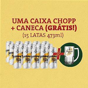 Caixa 15 Chopp Lata + Caneca (Grátis!)
