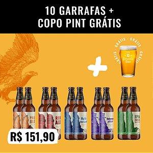 Caixa 10 garrafas (500ml) + Copo Pint 473ml (Grátis!)