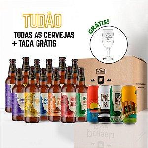 Combo com TAÇA: 12 Garrafas + 4 Latas de IPAs (4Pack) + Taça Royal (brinde)