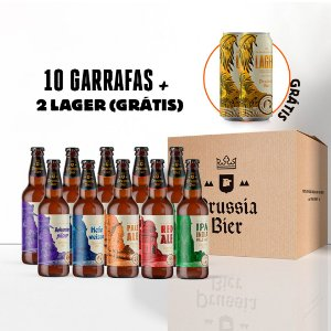 Combo 10 garrafas + 2 latas Lager 473ml (Grátis!)