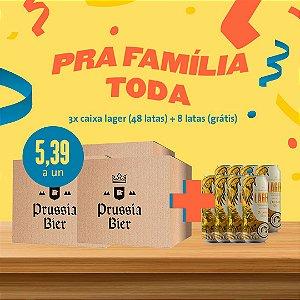 3 cx Lata Lager (16un cada caixa) + 8 Latas (Grátis)