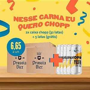 2 cx Chopp Pilsen (16un cada caixa) + 5 Latas (Grátis)