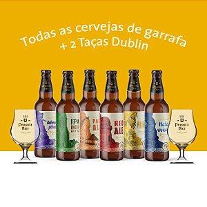 """Combo """"Todas as Cervejas de Garrafa"""" + 2 Taças Dublin"""