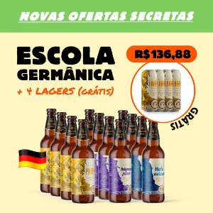 Kit Escola Germânica: 12 Garrafas + 4 Latas Lager (Grátis)