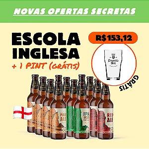 Kit Escola Inglesa: 12 Garrafas + Copo Pint (Grátis)