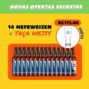 Combo cerveja de trigo: 14x Hefeweizen + Taça Weiss (Grátis)