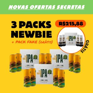 3 x Packs Newbie - New England IPA + 1 Pack Fake IPA (Grátis)