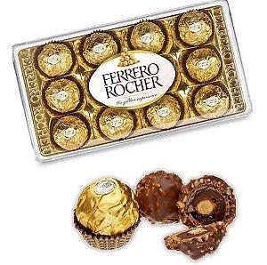 Ferrero Rocher Caixa Acrílica 12 Unidades