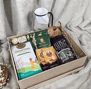 Caixa de Café Gourmet com Mini Coador Retrô Cod CA014