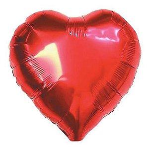 Balão Metalizado Coração Vermelho
