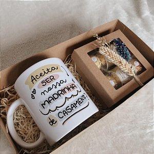 Kit Caixa Kraft Mimo Caneca Personalizada com Ferrero  cód CA009