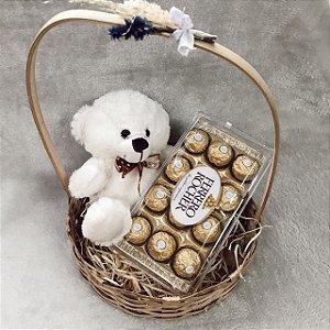 Kit Urso Apaixonado e Ferrero  Cod K033