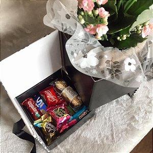 Caixa Surpresa Flor e Chocolates   cod K002