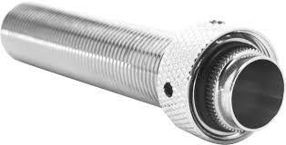 Prolongador de latão cromado shank/rosca 100 mm