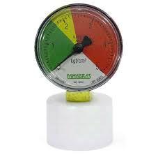 Manômetro para controlar a pressão