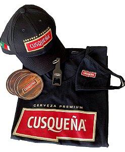 Kit Acessórios Cusqueña com Camiseta Masculina