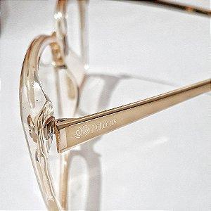 Óculos de Grau Feminino Dourado Transparente  - Armação de Óculos de Grau Feminino | Ótica Online
