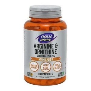 L-ARGININA & ORNITINA (500mg / 250mg) - 100 cap  now foods