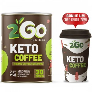 Café Termogênico - Keto Coffee SuperFood 240g (30 doses).