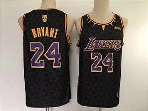 """Camisa de Basquete Especial Pantera Negra """"Wakanda Forever"""" - Kobe Bryant 24"""