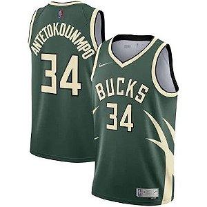Camisa de Basquete Milwaukee Bucks 2021 - Giannis Antetokounmpo 34