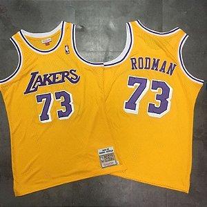 Camisa de Basquete Los Angeles Lakers 98/99 Hardwood Classics M&N - 73 Dennis Rodman