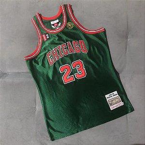 Camisa de Basquete Michael Jordan Chicago Bulls Authentic Green Brilhante 1997/1998