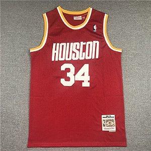 Camisas de Basquete Retrô Houston Rockets - 34 Olajuwon