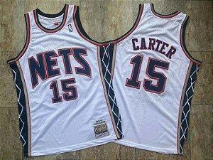 Camisa de Basquete New Jersey Nets Hardwood Classics M&N - Vince Carter 15