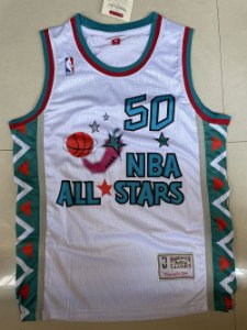 Camisa de Basquete retrô 1995 All Star Game - David Robinson 50