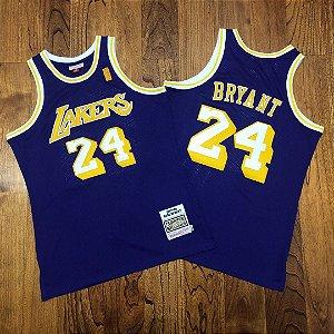 Camisa de Basquete Los Angeles Lakers 2007/2008 Hardwood Classics M&N - 24 Kobe Bryant