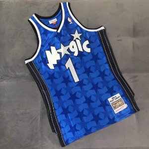 Camisa de Basquete Orlando Magic Blue 2001/2002 Hardwood Classics M&N - Tracy McGrady 1