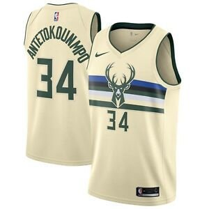 Camisas Milwaukee Bucks - City Edition / Earned Edition - 34 Giannis Antetokounmpo